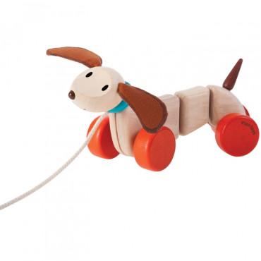 Chien heureux à tirer - Plan Toys