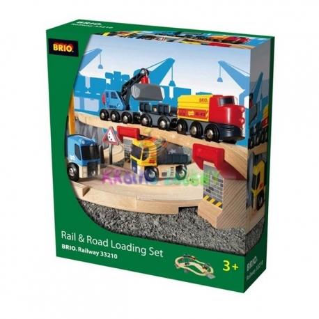 Circuit Brio rail route transport de roches