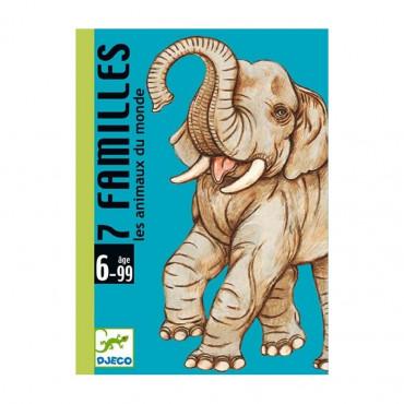Jeu de cartes 7 familles les animaux du monde