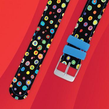 Bracelet montre Twistiti à pois multicolor