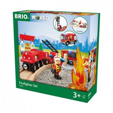 Circuit de trains Pompier lutte contre le feu - Brio