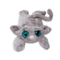 Peluche chat Lanky cats Georgie gris