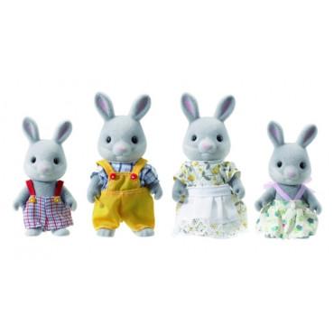 Famille lapin gris