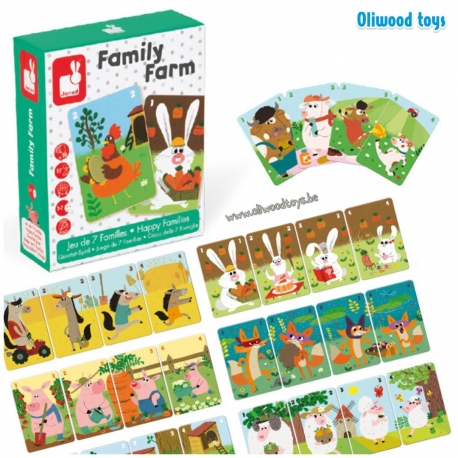 Jeu de 7 familles Family Farm