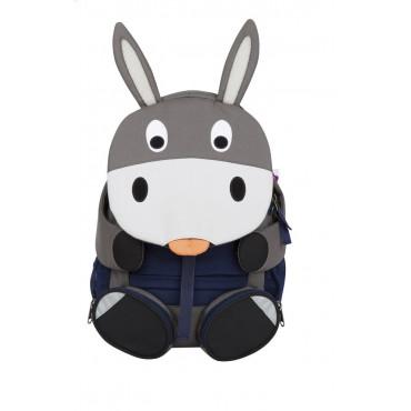 Grand sac à dos enfant âne gris