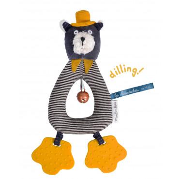 Anneau hochet chat gris Alphonse Les Moustaches