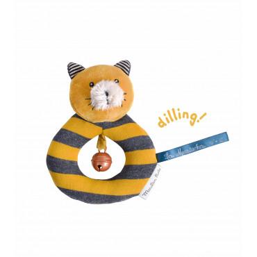 Anneau hochet chat moutarde Lulu Les Moustaches