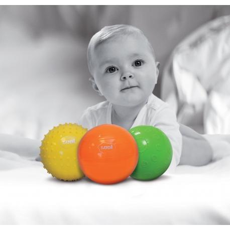 Coffret 3 balles sensorielles 13 cm