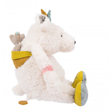 Pom ours blanc musical Le Voyage d'Olga Moulin Roty