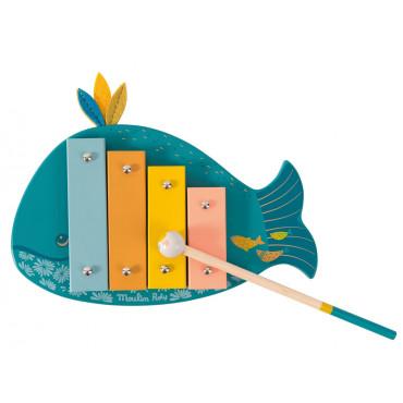 Xylophone baleine Le voyage d'Olga - MOULIN ROTY