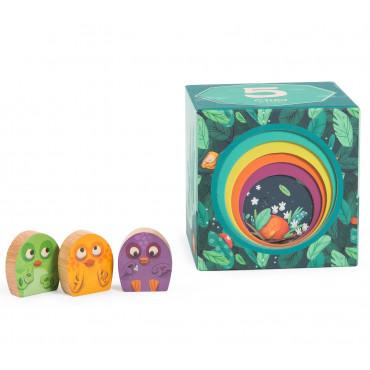Cubes empilables Dans la jungle - MOULIN ROTY