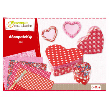 BOITE CREATIVE DECOPATCH KIT AMOUR