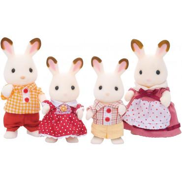 Famille lapin chocolat - Sylvanian families