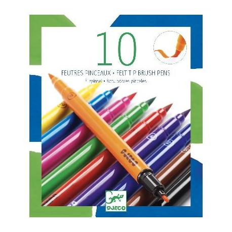 10 Feutres pinceaux - Djeco