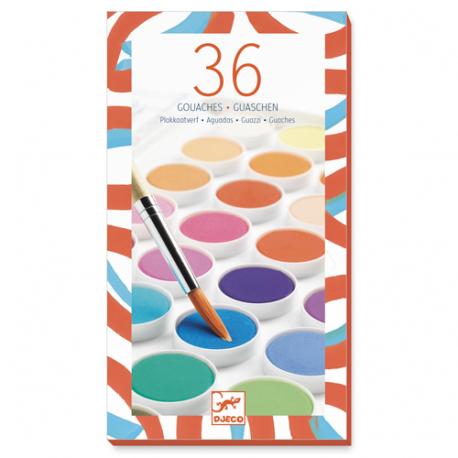 36 pastels de gouaches - Djeco