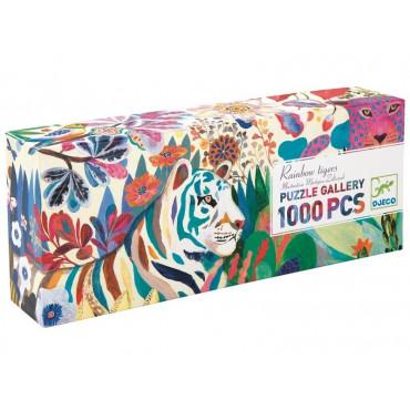Puzzle gallery Rainbow Tigers 1000 pièces - Djeco