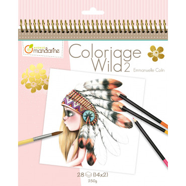 Carnet de coloriage Wild 2 - Avenue Mandarine