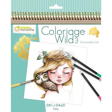 Carnet de coloriage Wild 3 - Avenue Mandarine