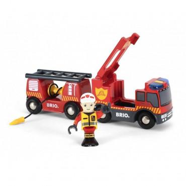 Camion de pompier son et lumière - Brio