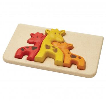 Mon Premier Puzzle en bois Famille des girafes - PlanToys