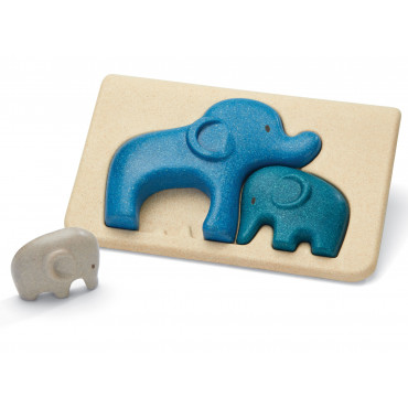 Mon Premier Puzzle en bois Famille des éléphants - PlanToys