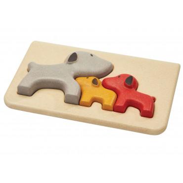 Mon Premier Puzzle en bois Famille des chiens - PlanToys