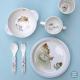 Assiette en mélamine Ernest et Célestine, bleue - Petit Jour Paris