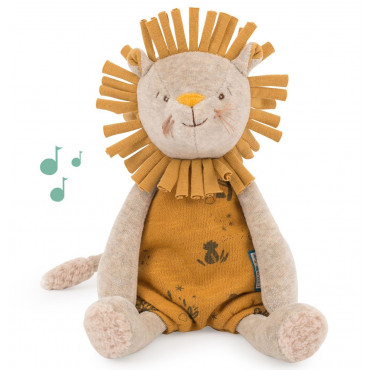 Peluche musicale Lion, Sous mon baobab - Moulin Roty