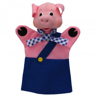 Marionnette cochon bleu - Moravska Ustredna