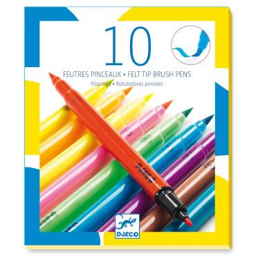 10 Feutres pinceaux Pop - Djeco