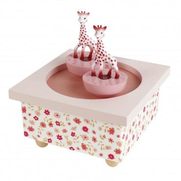 Boîte à musique Dancing Sophie la girafe, rose - Trousselier