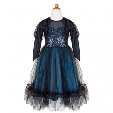 Robe de sorcière bleu nuit 7-8 ans - Great Pretenders