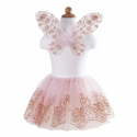 SET TUTU OR ET ROSE ET AILES 4-7 ANS