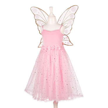 ROBE ROSYANNE ROSE AVEC AILES 5-7 ANS