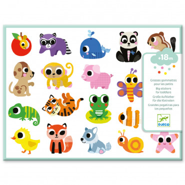 GOMMETTES ECHENILLEES BEBES ANIMAUX
