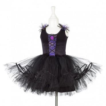Robe de sorcière Cara noire et mauve 5-7 ans - Souza for kids