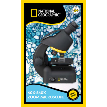 Microscope 40-640x avec adaptateur Smartphone National Geographic - Bresser