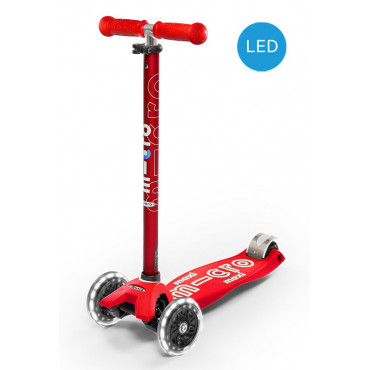 Trottinette maxi micro  Deluxe rouge LED - micro
