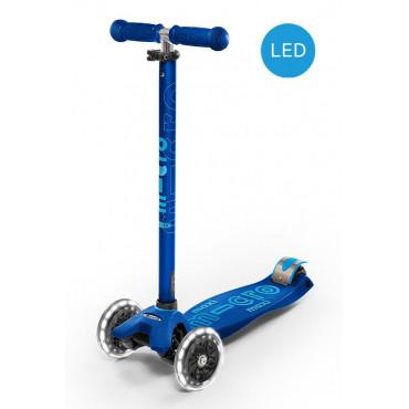 Trottinette maxi micro Deluxe bleue LED - micro