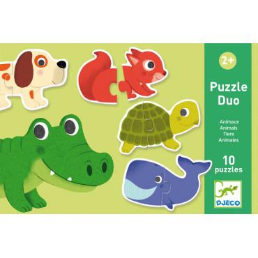 Puzzle duo Animaux - Djeco