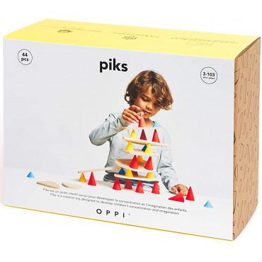 Piks 44 pièces jeu de construction - Oppi