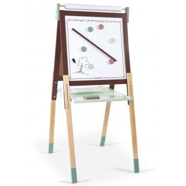 Tableau en bois réglable taupe et vert - Janod