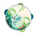 Tambourin bleu Dans la Jungle - Moulin Roty