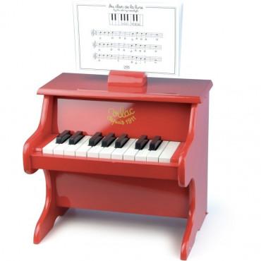 Piano en bois rouge - Vilac
