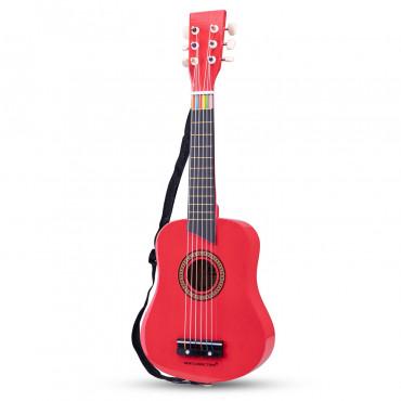 Guitare de luxe en bois rouge - New Classic Toys