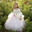 Robe Golden Princesse rose 5-6 ans - Great Pretenders