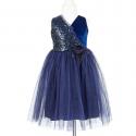 Robe bleu nuit Marie-Ine 5-7 ans - Souza