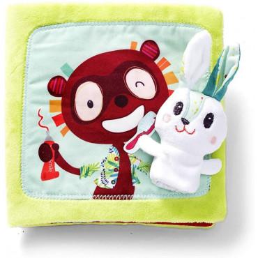 Livre en tissu petit lapin dentiste - Lilliputiens