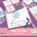 Apprendre à dessiner Step by Step Joséphine and co - Djeco