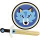 Bouclier et épée en bois Loup - Vilac